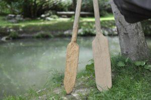 Einbaum-PaddelPagaie in legnoPaddels
